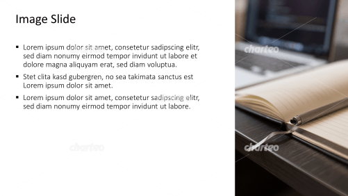 Placeholder text with image of a notebook with pen