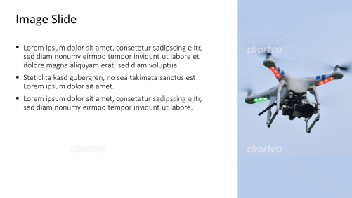 Placeholder text with image of a flying drone