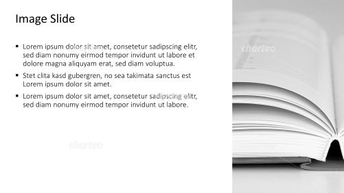 Placeholder text with image of an open book