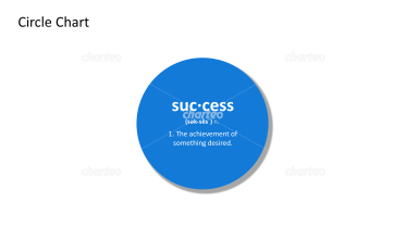 Success - definition and phonetic spelling in filled circle