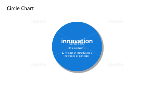 Innovation - definition and phonetic spelling in filled circle