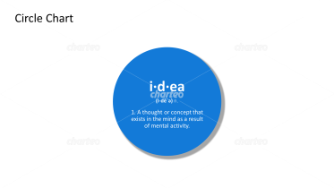 Idea - definition and phonetic spelling in filled circle