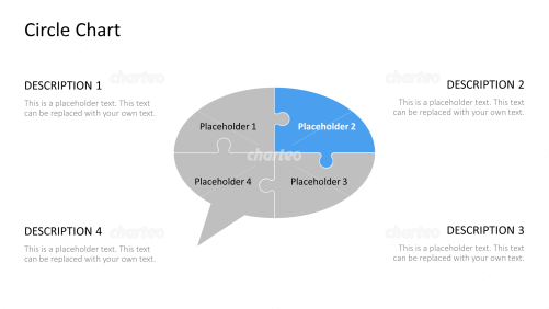 Puzzle diagram in form of a speech bubble