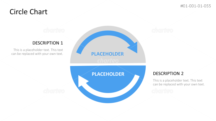 Circular Arrow Diagram With Placeholder Text In Center