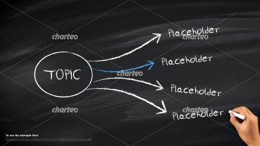 Radial list on chalkboard