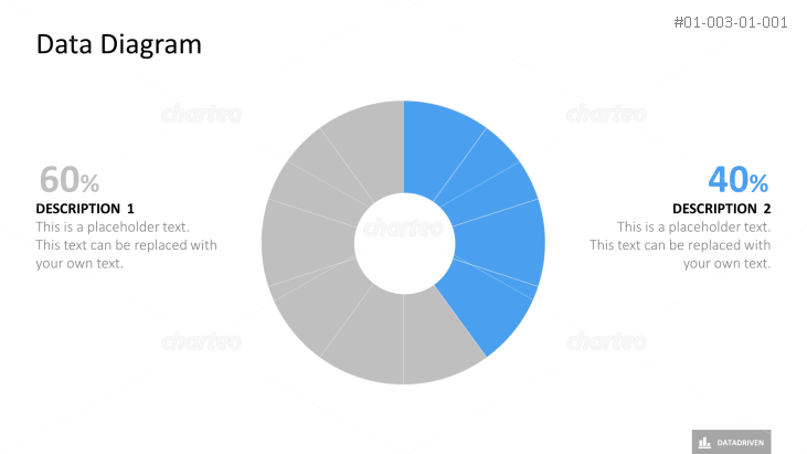 Radial donut chart with ten equal segments