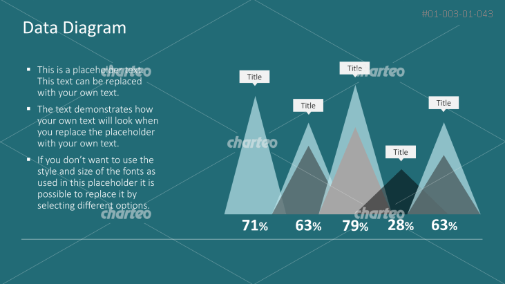 Column difference graph with overlaying mountain peaks