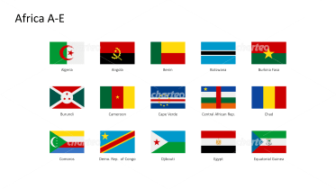 Rectangular national flags - Africa A-E