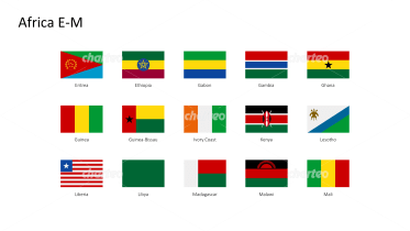 Rectangular national flags - Africa E-M