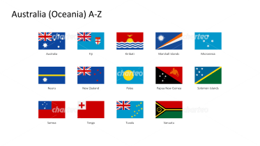 Rectangular national flags - Australia / Oceania A-Z