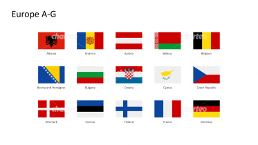 Rectangular national flags - Europe A-G