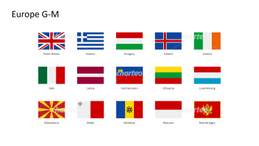 Rectangular national flags - Europe G-M