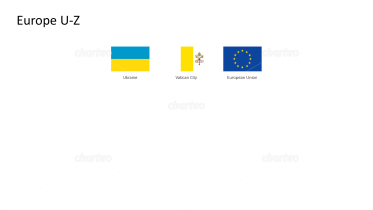 Rectangular national flags - Europe U-Z