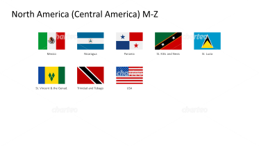 Rectangular national flags - North / Central America M-Z