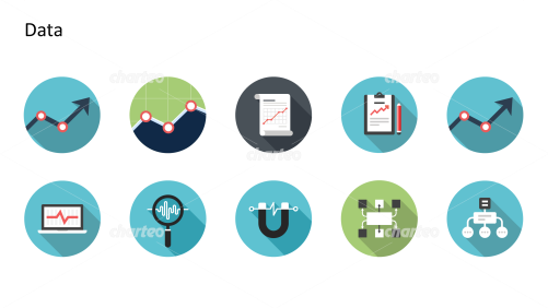 Flat Design Icons Set - Daten