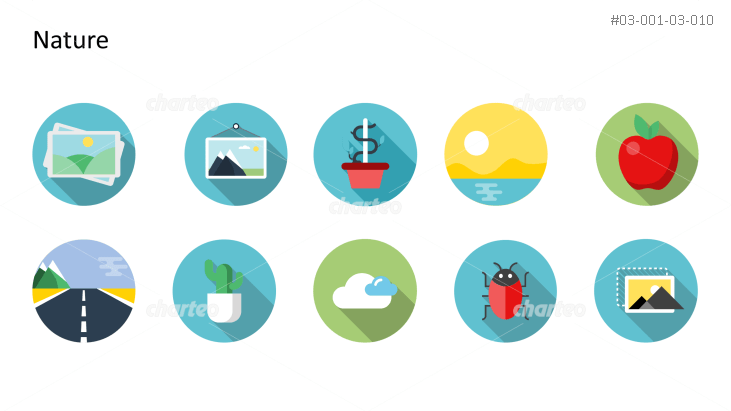 Flat design icons set - Nature