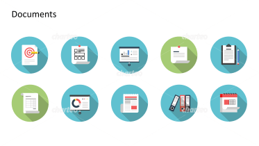 Flat design icons set - Documents, Part 5
