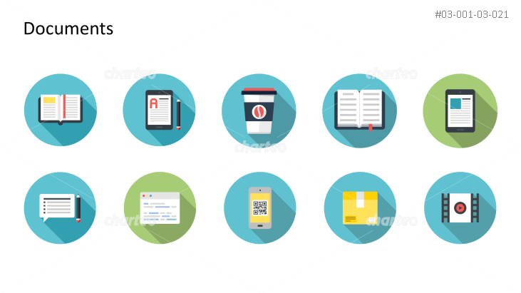 Flat Design Icons Set - Dokumente, Teil 9