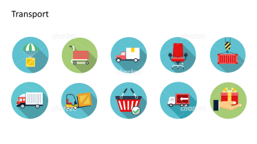 Flat Design Icons Set - Transport