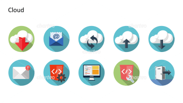 Flat Design Icons Set - Wolke