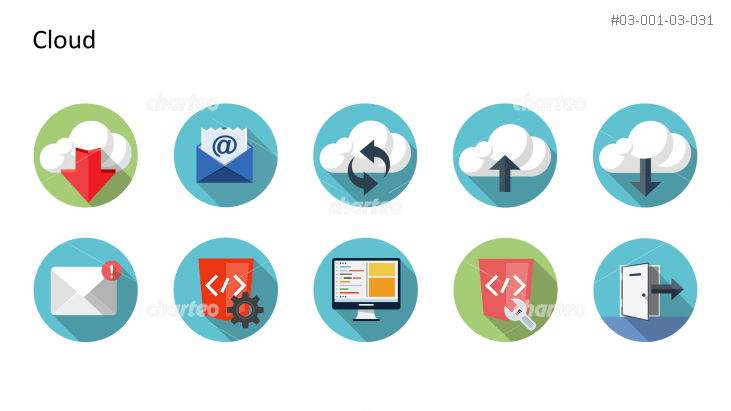 Flat design icons set - Cloud