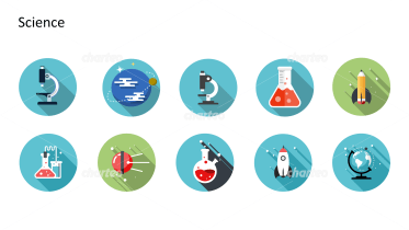 Flat design icons set - Science