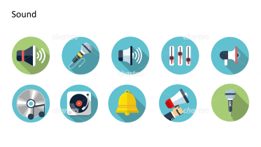 Flat design icons set - Sound