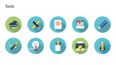 Flat design icons set - Tools, Part 2