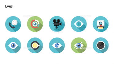 Flat design icons set - Eyes, Part 2