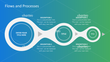Process flow chart with three steps in circles