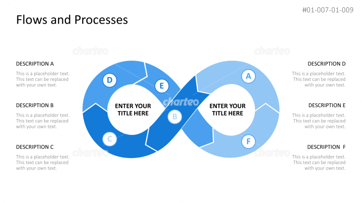 Infinite process loop symbol with six steps