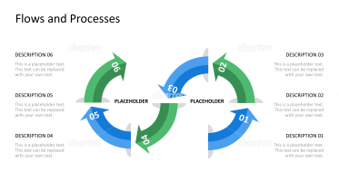 Open infinite process loop with six numbered steps