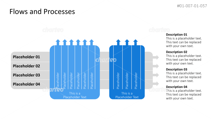 Process diagram with horizontal bars and vertical columns