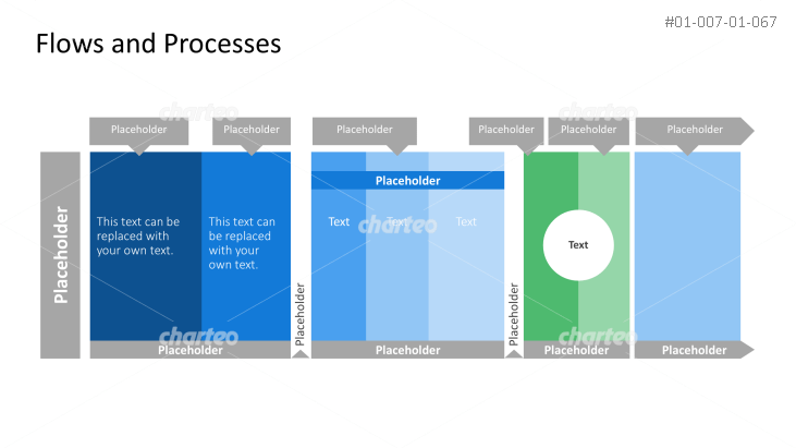 Process column diagram in three segments with descriptions