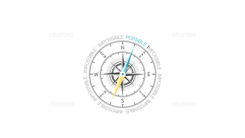 Complex compass with compass dial and needle