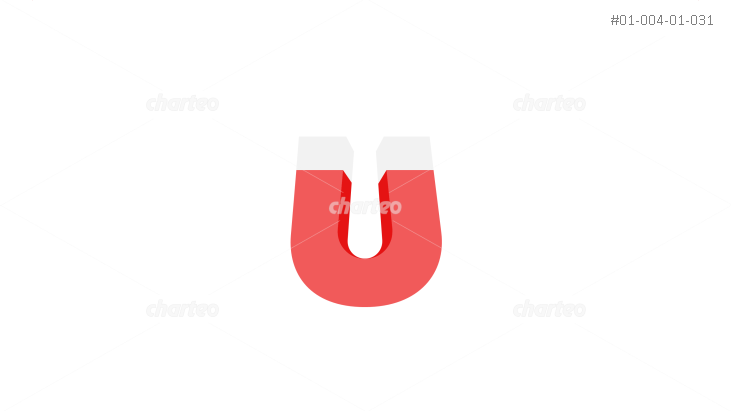 Horse shoe magnet in red and white