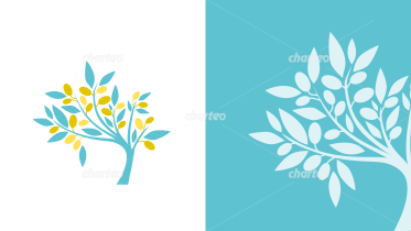 Small leaf tree graphics with different optics