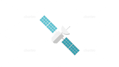 Artificial space satellite with solar array