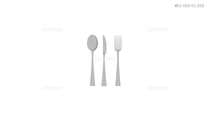 Cutlery set with spoon, knife and fork