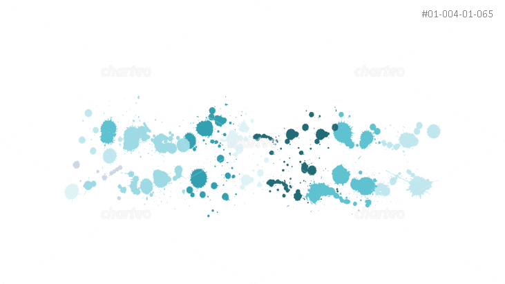 Ink-splatter pattern with color gradient