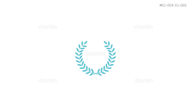 Round laurel wreath as award