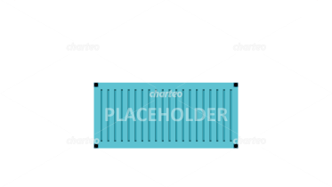 Shipping container with description placeholder