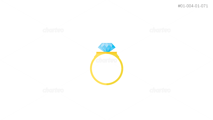 Golden wedding ring with blue diamond
