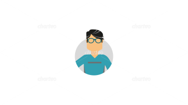 Persona icon of anonymous male shape with glasses
