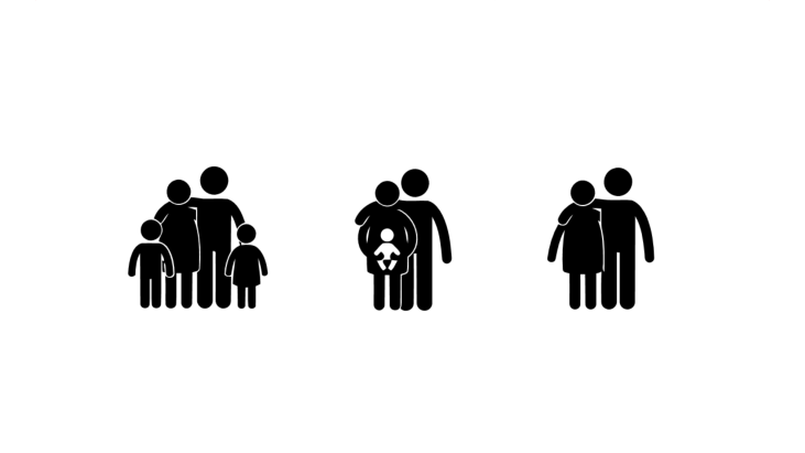 Family with parents and children