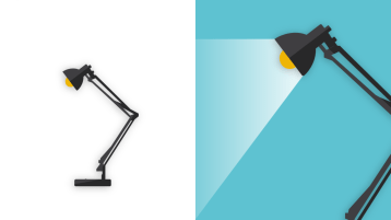 Anglepoise desk lamp in two sizes