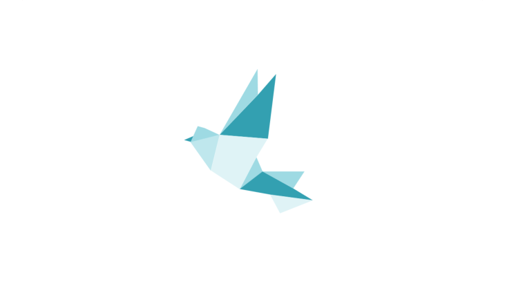 Flying Peace Dove In Origami Optics