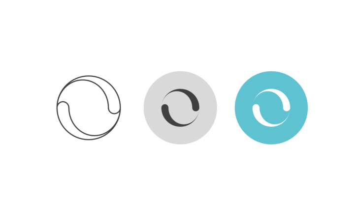 Triple icon pack - swirl of two distorted drops