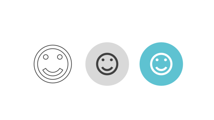 Triple icon pack - smiling emoticon
