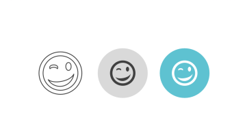 Triple icon pack - winking emoticon